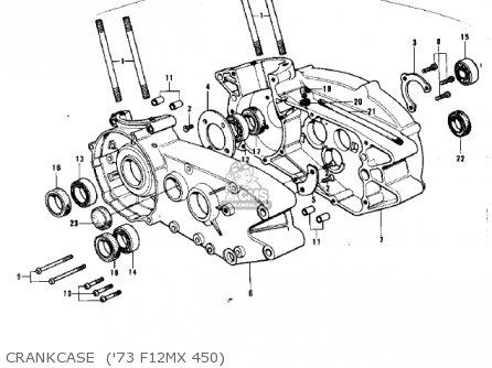 Kawasaki F12mx 1973 parts list partsmanual partsfiche