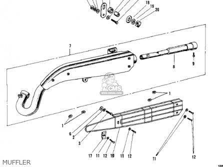 Kawasaki F4 Sidewinder 1969 Usa parts list partsmanual