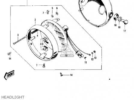 Kawasaki F5 Big Horn 1970 Usa parts list partsmanual