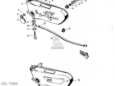 Kawasaki F5A 1971 USA parts lists and schematics