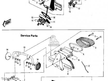 Kawasaki F5a 1971 Usa parts list partsmanual partsfiche