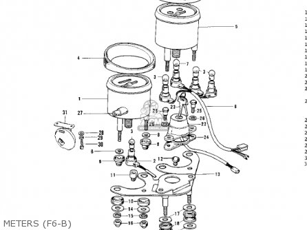 Kawasaki F6 1971 USA CANADA parts lists and schematics