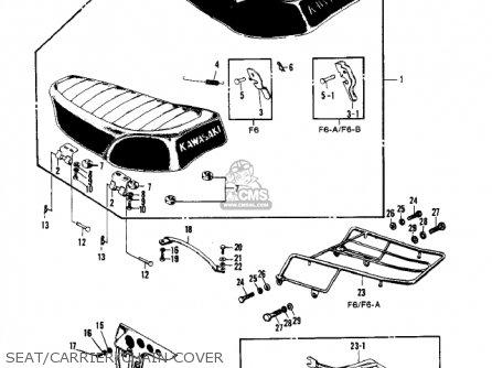 Kawasaki F6 1971 Usa Canada parts list partsmanual partsfiche