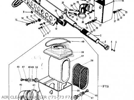 Kawasaki F7a 1972 Usa parts list partsmanual partsfiche