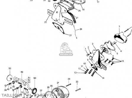 Kawasaki F7D 1975 USA parts lists and schematics