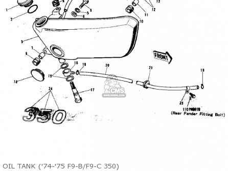 Kawasaki F9a 1973 Usa Canada parts list partsmanual partsfiche