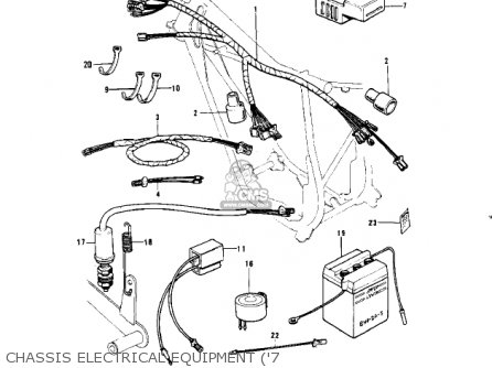 Kawasaki G4tra 1971 Usa Canada parts list partsmanual