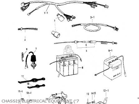 Kawasaki G4tra 1971 Usa Canada parts list partsmanual
