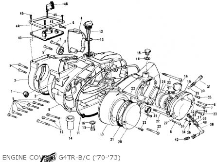 Kawasaki G4trb 1972 Usa Canada parts list partsmanual
