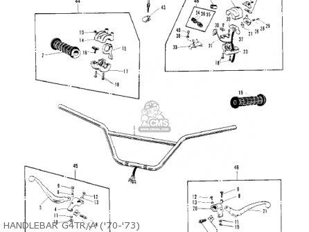 Kawasaki G4trb 1972 Usa Canada parts list partsmanual