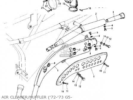 Kawasaki G5b 1974 Canada parts list partsmanual partsfiche