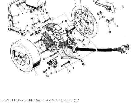 Kawasaki G5C 1975 CANADA parts lists and schematics