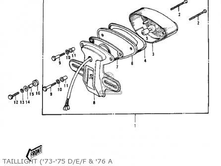 Kawasaki H1 1970 CANADA parts lists and schematics