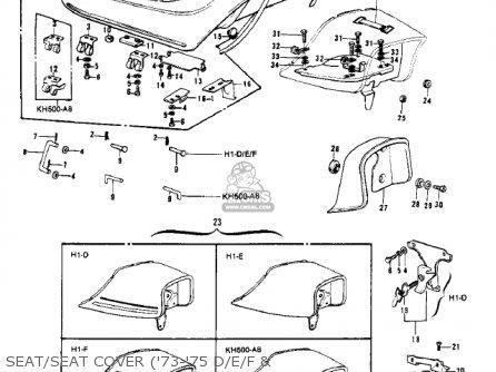 Kawasaki H1 MACH III 1969 CANADA parts lists and schematics
