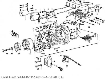 Kawasaki H1b 1972 Canada parts list partsmanual partsfiche