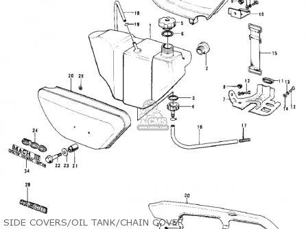 Kawasaki H1B 1972 CANADA parts lists and schematics