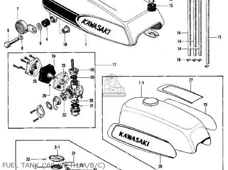 Kawasaki H1f 1975 Canada parts list partsmanual partsfiche