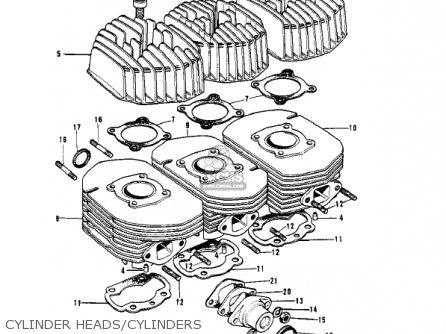 Kawasaki H2 Mach Iv 1972 Canada parts list partsmanual