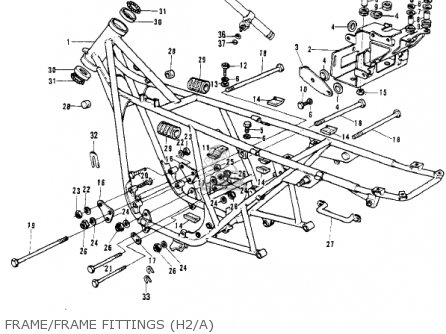 Kawasaki H2 MACH IV 1972 CANADA parts lists and schematics