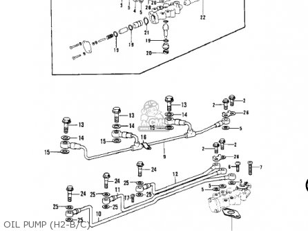 Kawasaki H2c Mach Iv 1975 Canada parts list partsmanual