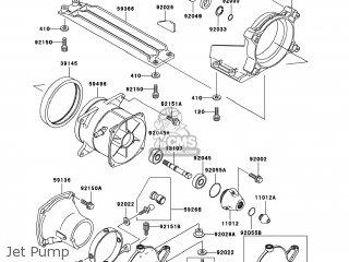 Kawasaki JH1100-A2 JETSKI1100 ZXI 1997 USA parts lists and
