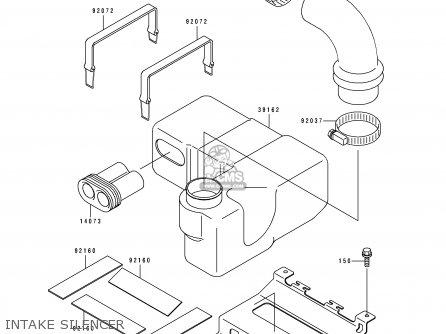 Kawasaki JH750-A2 JETSKISS 1993 USA CANADA parts lists and