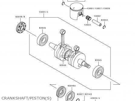 Kawasaki JH750-A4 JETSKIX4 1995 FRANCE AL parts lists and