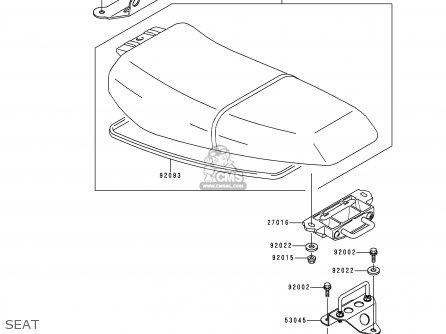 Kawasaki JH750-G1 JETSKIXISPORT 1998 USA parts lists and
