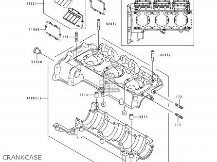 Kawasaki JH900-A2 JETSKI900ZXI 1996 FRANCE AL AS parts
