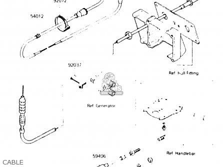 Kawasaki Js300-b2 300) 1987 United Kingdom Fr Al parts