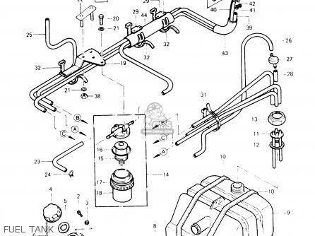 Kawasaki JS440-A13 JETSKI440 1989 USA parts lists and