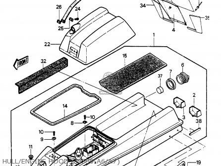 Kawasaki JS550-A6 JETSKI550 1987 USA parts lists and