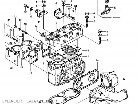 Kawasaki JS550-A7 JETSKI550 1988 USA parts lists and