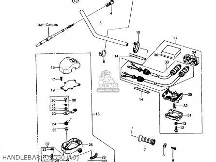 Kawasaki Js550-a8 Jetski550 1989 Usa parts list