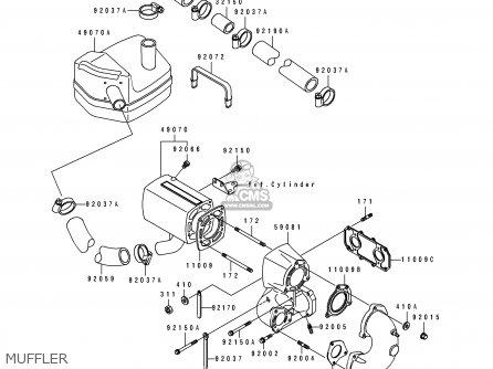 Kawasaki JS550-B1 JETSKI550SX 1990 USA CANADA parts lists
