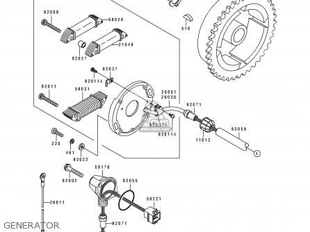 Kawasaki JS550-C1 JETSKI550SX 1991 USA CANADA parts lists