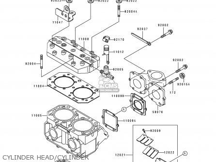 Kawasaki JS550-C3 JETSKI550SX 1993 USA CANADA parts lists
