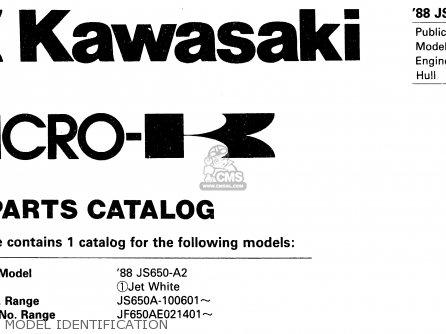 Kawasaki JS650-A2 650SX) 1988 UNITED KINGDOM FR AL IT