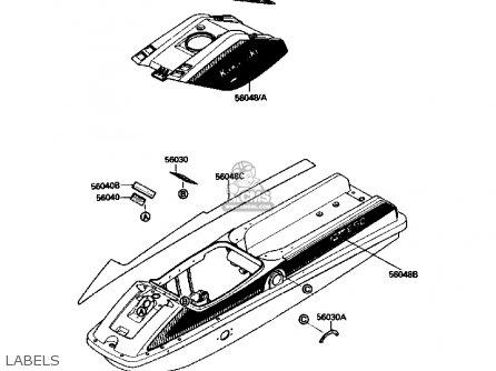 Kawasaki JS650-A2 JETSKI650SX 1988 USA parts lists and