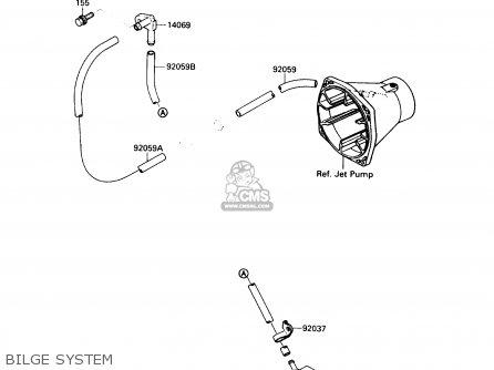 Kawasaki JS650-A3 JETSKI650SX 1989 USA parts lists and
