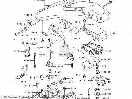 Kawasaki JS650-B1 JETSKI650SX 1991 FRANCE AL parts lists