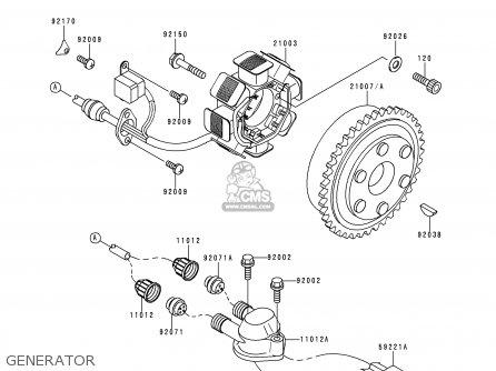 Kawasaki JS750-A1 JETSKI750SX 1992 FRANCE AL parts lists