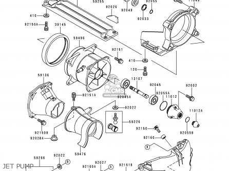 Kawasaki JT1100-A1 JETSKI1100STX 1997 USA CANADA parts