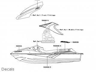 Kawasaki JT1200-D1 JETSKI STX-12F 2005 USA parts lists and