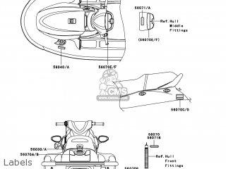 Kawasaki JT1500-AAF JETSKI STX-15F 2010 USA parts lists