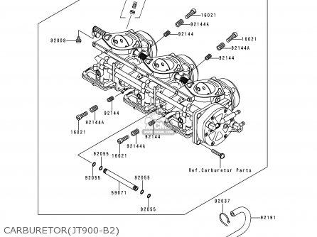 Kawasaki Jt900-b2 Jetski900stx 2000 Usa parts list