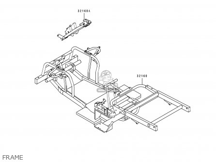 Kawasaki KAF300-A1 MULE500 1993 USA parts lists and schematics