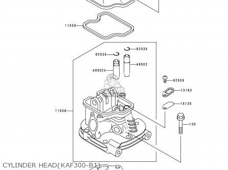 Kawasaki KAF300-B1 MULE500 1990 USA parts lists and schematics