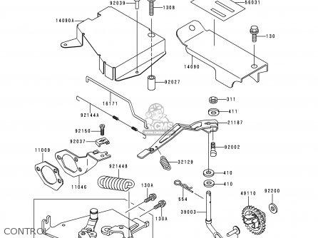 Kawasaki Kaf300-b2 Mule500 1991 Usa parts list partsmanual