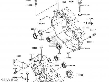 Kawasaki KAF300-C1 MULE550 1997 USA parts lists and schematics